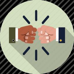 business, coalition, cooperation, decision, fist bump, partnership, teamwork icon