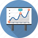 business, graphics, infographic, marketing, presentation, progress, solution icon
