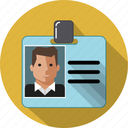 id card, identification, man, pass, personal, protection, security icon