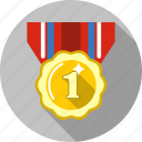 award, medal, prize, reward, triumph, trophy, winner icon