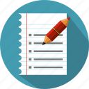 checklist, feedback, file, list, note, pen, survey icon