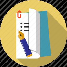 checklist, documents, file, folder, list, pencil, survey icon