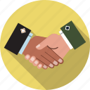 agreed, business, collaboration, handshake, partnership, respect, teamwork icon