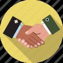 agreed, business, collaboration, handshake, partnership, respect, teamwork icon