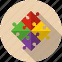 agreement, alliance, business, marketing, piece, puzzle, team icon