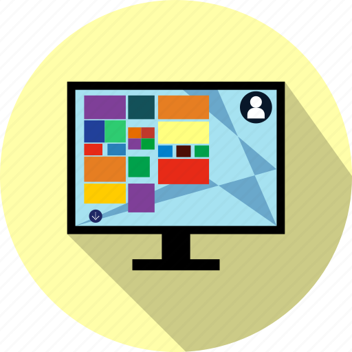 computer, desktop, monitor, network, screen, seo, webpage icon