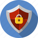 antivirus, guard, padlock, password, protect, security, shield icon
