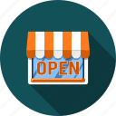 business, market, open, payment, sale, shop, store icon