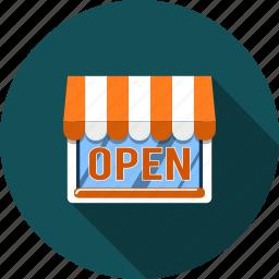 business, market, open, payment, sale, shop, store icon