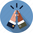 companionship, cooperation, finger, five, friendship, gesture, hand icon