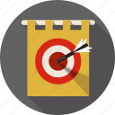 arrow, business, challenge, competition, dart, direction, marketing icon