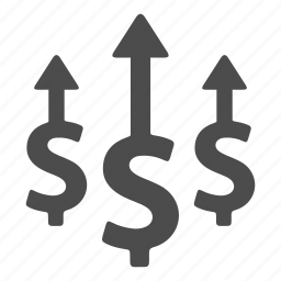 business, cash, finance, growth, increase, money, success icon