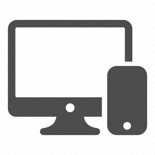 computer, connectivity, pc, phone, technology icon