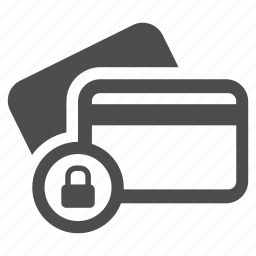 card, credit, money, pay, protected, safe, shopping icon