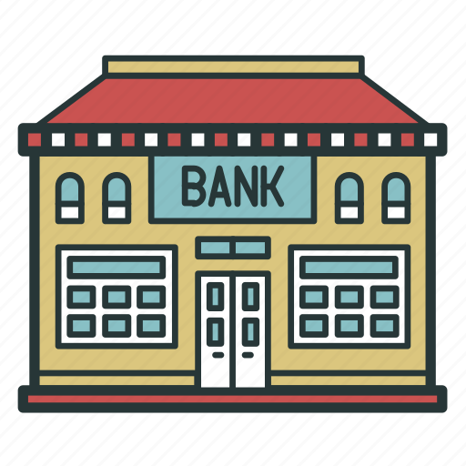 bank, business, credit, estate, finance, money, office icon