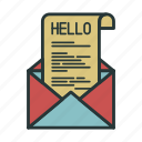 envelope, hello, letter, message, communication, email, mail