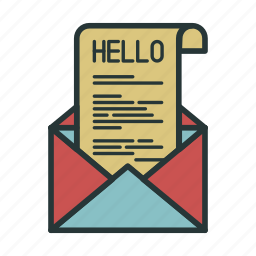 communication, email, envelope, hello, letter, mail, message icon