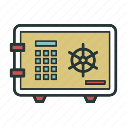 buttons, numbers, protection, safe, safe box, safety, security icon