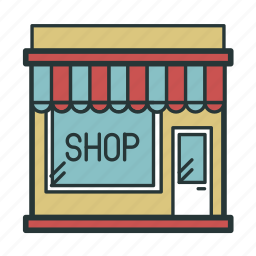 marquis, retail, shop, storefront icon