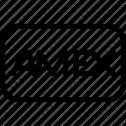 american, amex, business, company, express, line-icon icon