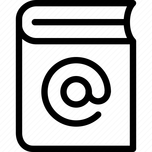 address, book, business, communication, contact, line-icon icon