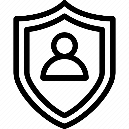 business, inshurance, line-icon, protection, safety, shield icon