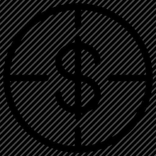 business, cash, goal, line-icon, money, success, target icon
