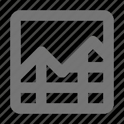 analytics, bar, chart, data, graph, line, report, statistics icon