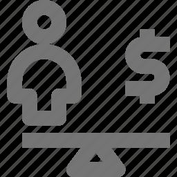 money, scale icon