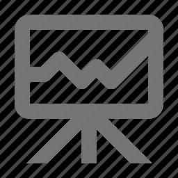 board, graph, whiteboard icon