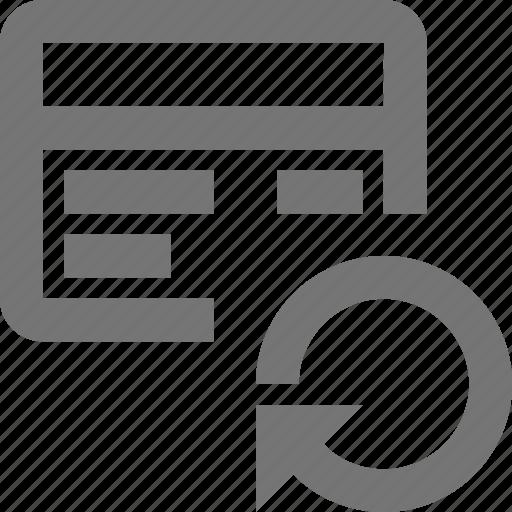 arrow, credit card, refresh, reload, sync icon
