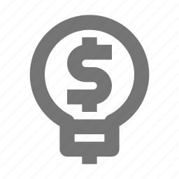 bulb, business, currency, dollar, idea, lightbulb, money, startup icon