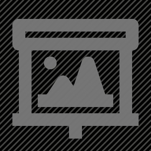 image, media, photo, picture, presentation, projector, screen icon