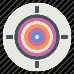 arrow, bullseye, strategy, target icon