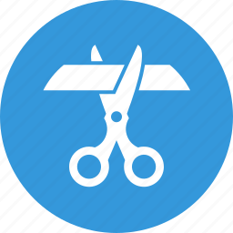 accomplishment, cut, design, scissors, tape icon