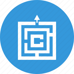 conundrum, game, labyrinth, solutions, strategy icon