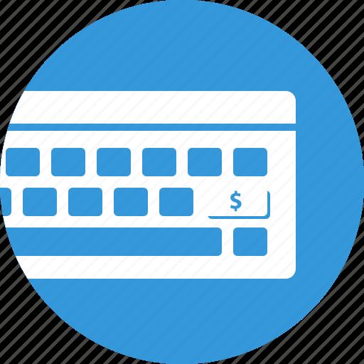 earnings, keyboard, marketing, online trading icon
