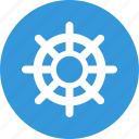 business, helm, management, rudder, steering wheel icon