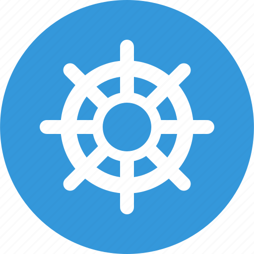 business, helm, management, rudder, steering wheel icon