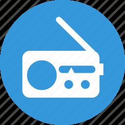 events, multimedia, music, news, radio, sound icon