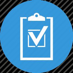 audit, business, check, check mark, mark, order, planchette icon