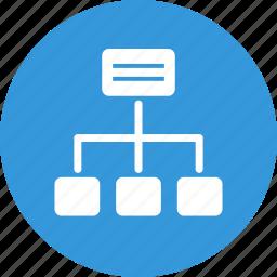 algorithm, map, scheme, site, site map icon