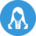 avatar, business, person, profile, staff, user, woman icon