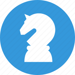 business strategy, chess, figure, game, horse, strategy icon