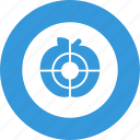 aim, goal, shooting, target, targeting icon