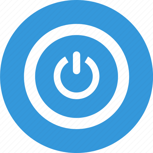 off, on, push, reset, switch on, work icon