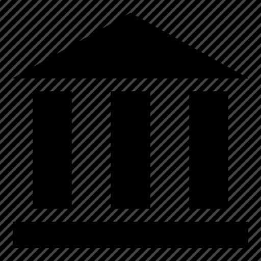 architecture, bank, basement, building, museum icon