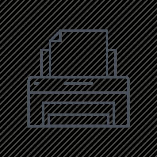 computer, document, fax, office, paper, printer, printout icon