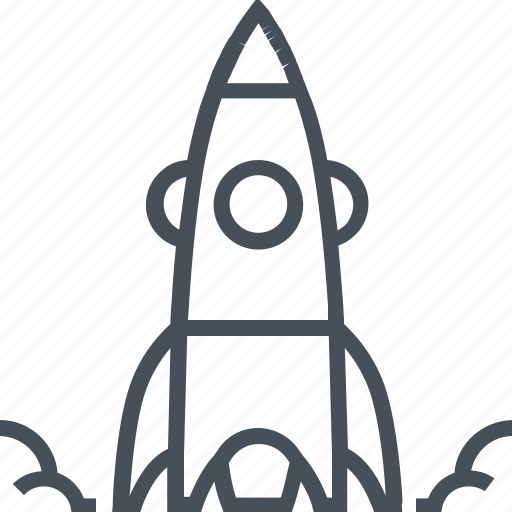 fly, rocket, start up icon
