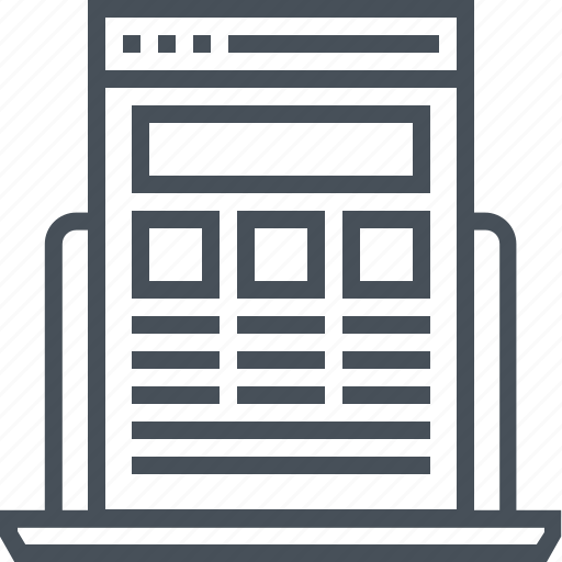 computer, internet, product, responsive, web, website, wireframe icon